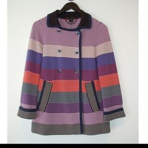 Marc by Marc Jacobs Striped Double Breasted Jacket